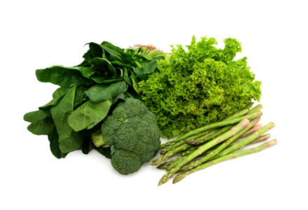 Healthy Foods for Women - Green leafy vegetables