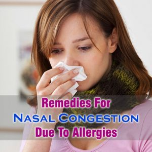 Nasal Congestion Due To Allergies